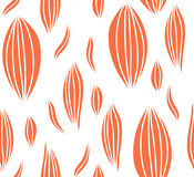 Seamless abstract leaf fall pattern. Royalty Free Stock Images