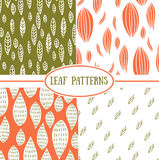 Seamless abstract leaf fall patterns. Set of seamless abstract leaf fall patterns Royalty Free Stock Image