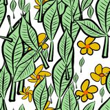 Seamless abstract leaves & flower illustrations background. Pattern, details, digital & cover. Seamless abstract leaves & flower illustrations background Royalty Free Illustration