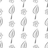 Seamless abstract leaves & flower illustrations background. Cover, canvas, color & graphic. Seamless abstract leaves & flower illustrations background. Cartoon vector illustration