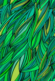 Seamless abstract leaves vector pattern. Exotic tropical ornament. Stock Images