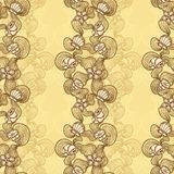 Seamless abstract marine lace beige background Royalty Free Stock Photos