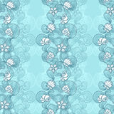 Seamless abstract marine lace blue background Stock Image
