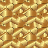 Seamless abstract metallic gold background Royalty Free Stock Photography
