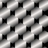 Seamless Abstract Metallic Pattern from Hexagons Royalty Free Stock Images