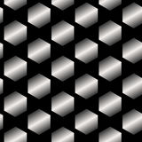 Seamless Abstract Metallic Pattern from Hexagons Royalty Free Stock Photography