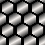 Seamless Abstract Metallic Pattern from Hexagons. Seamless abstract metallic pattern background from hexagons vector illustration