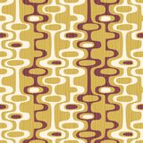 Seamless abstract mid-century modern pattern of organic oval shapes and stripes. Seamless abstract mid-century modern pattern for backgrounds, fabric design royalty free illustration