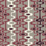 Seamless abstract mid-century modern pattern of organic oval shapes and stripes. Seamless abstract mid-century modern pattern for backgrounds, fabric design stock illustration