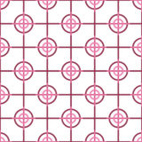 Seamless Abstract Modern Pattern from Circles and Lines Royalty Free Stock Image