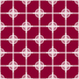 Seamless Abstract Modern Pattern from Circles and Lines Royalty Free Stock Photography