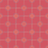 Seamless Abstract Modern Pattern from Circles and Lines Stock Image