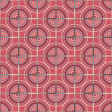 Seamless Abstract Modern Pattern from Circles and Lines Stock Photography