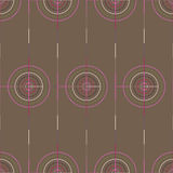 Seamless Abstract Modern Pattern from Circles and Lines Royalty Free Stock Photos