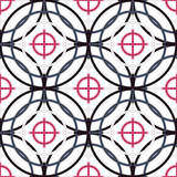 Seamless Abstract Modern Pattern from Circles and Lines Royalty Free Stock Photo