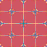 Seamless Abstract Modern Pattern from Circles and Lines Stock Photo