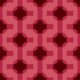 Seamless Abstract Modern Pattern from Circles and Lines Royalty Free Stock Images