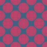 Seamless Abstract Modern Pattern from Circles and Lines Stock Images