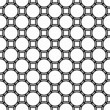 Seamless abstract monochrome circle grid pattern - simple halftone vector background graphic Royalty Free Stock Images