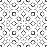 Seamless abstract monochrome curved star pattern - halftone vector background graphic from octagram shapes. Seamless abstract monochrome curved star grid pattern Royalty Free Stock Image