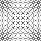 Seamless abstract monochrome grid pattern. Design background Stock Photo