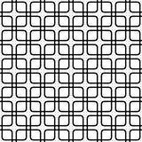 Seamless abstract monochrome grid pattern - vector background graphic from rounded squares Stock Photos