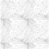 Seamless abstract monochrome pattern Royalty Free Stock Photo