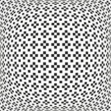 Seamless abstract monochrome plus or cross pattern with missing Royalty Free Stock Image