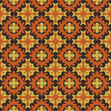 Seamless abstract mosaic pattern with warm colors Royalty Free Stock Photography