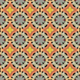 Seamless abstract mosaic pattern with warm colors Royalty Free Stock Images