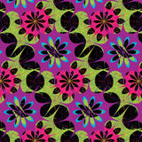 Seamless abstract multicolor floral pattern Royalty Free Stock Photos