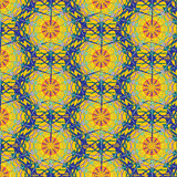 Seamless abstract multicolor gossamer pattern Royalty Free Stock Images