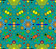 Seamless abstract multicolored pattern 3. Abstract multicolored seamless pattern for your design Stock Photo