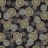 Seamless abstract ornament. With polka dots - vector illustration. Collection of design. Black background Royalty Free Stock Images