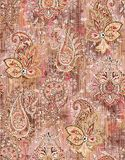 Seamless abstract paisley digital background royalty free illustration
