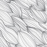Seamless abstract pattern. Leaves and strips Royalty Free Stock Photo
