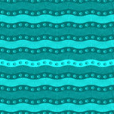 Seamless abstract pattern. Blue wave Stock Images