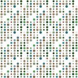 Seamless abstract pattern background with a variety of colored circles. Aesthetic color background vector illustration