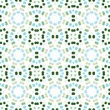 Seamless abstract pattern background with a variety of colored circles. Aesthetic multicolored background stock illustration