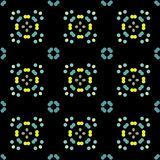 Seamless abstract pattern background with a variety of colored circles. Aesthetic colored background royalty free illustration