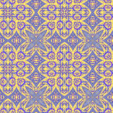 Seamless abstract pattern. Seamless abstract background. Violet and yellow squares and rhombuses made of leaves Royalty Free Stock Images