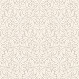 Seamless abstract pattern. Beige background with ornament.  Royalty Free Stock Images