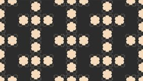 Seamless Abstract Pattern with Black and White Geometric Shapes Stock Image