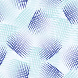 Seamless abstract pattern with blue halftone Royalty Free Stock Photo