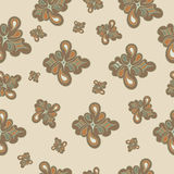 Seamless abstract pattern in brown tones Royalty Free Stock Images