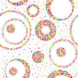 Seamless abstract pattern  with circles and chaotic points. Vector illustration Stock Photography