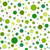 Seamless abstract pattern of circles of different tint and hue of green color.. Kaleidoscope background. Decorative wallpaper, good for printing. Vector Royalty Free Stock Photo