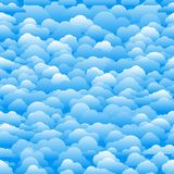 Seamless abstract pattern with clouds. Cartoon clous vector back vector illustration