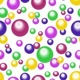 Seamless abstract pattern of colored circles. Colored circles on a white background. Vector. textiles, background, packaging, printing, website Royalty Free Stock Photo