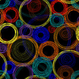 Seamless abstract pattern with colored circles Stock Photo